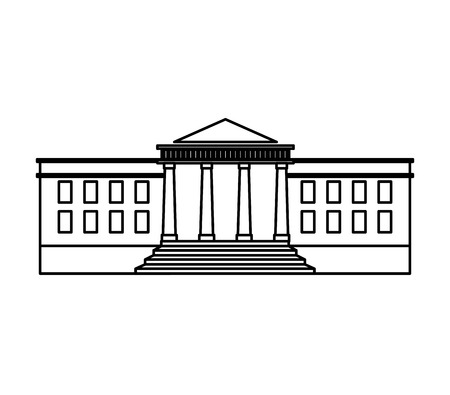 congress: government building isolated icon vector illustration design