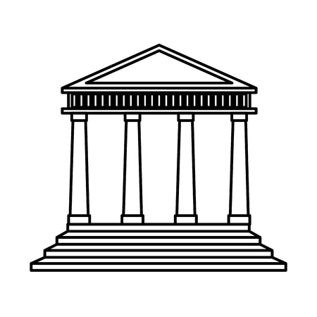 classical theater: court building isolated icon vector illustration design Stock Photo