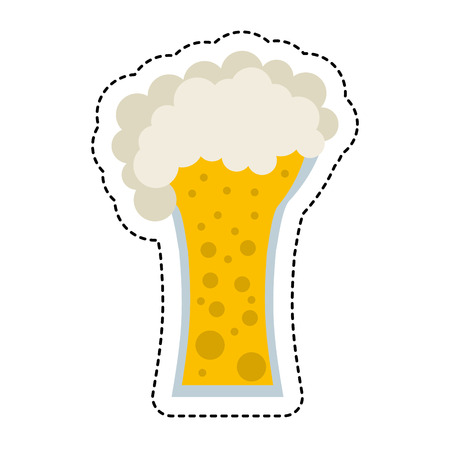 beer glass beverage isolated icon vector illustration design
