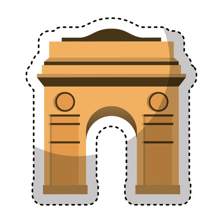 french culture: triumph arch isolated icon vector illustration design Illustration