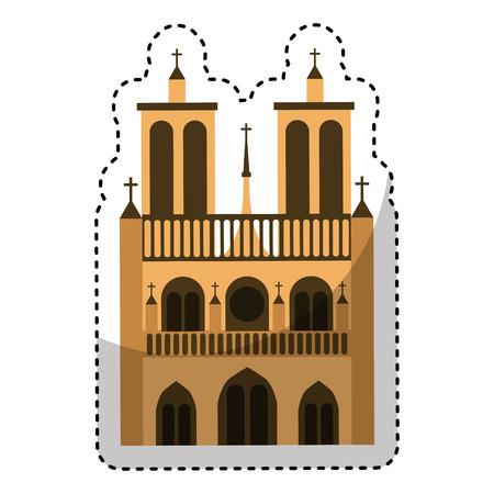 historic: catedral church isolated icon vector illustration design