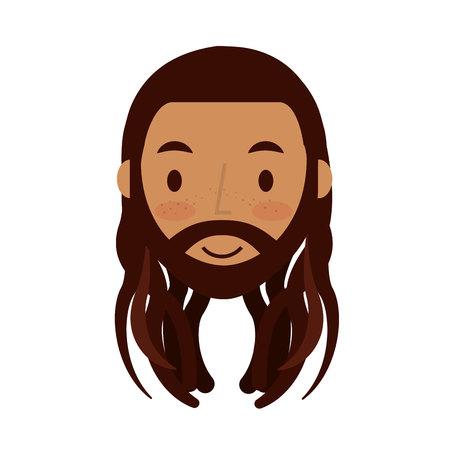 jamaican man: reggae man character icon vector illustration design Illustration