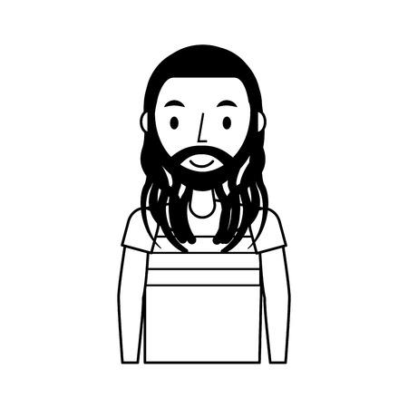 dreadlocks: reggae man character icon vector illustration design Stock Photo