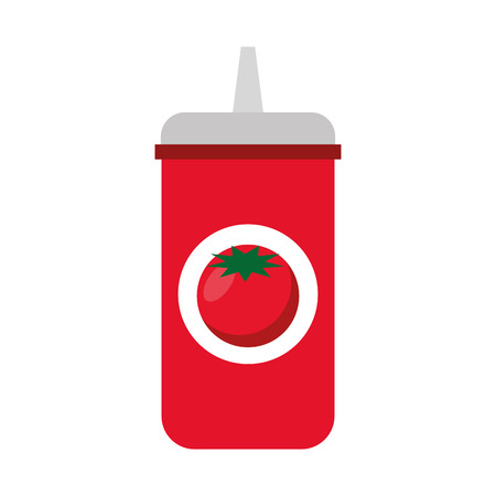 catsup bottle: ketchup bottle isolated icon vector illustration design Illustration