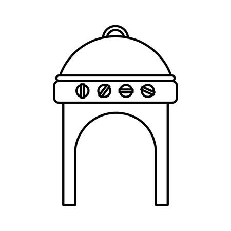 barbecue stove: oven grill bbq icon vector illustration design Illustration