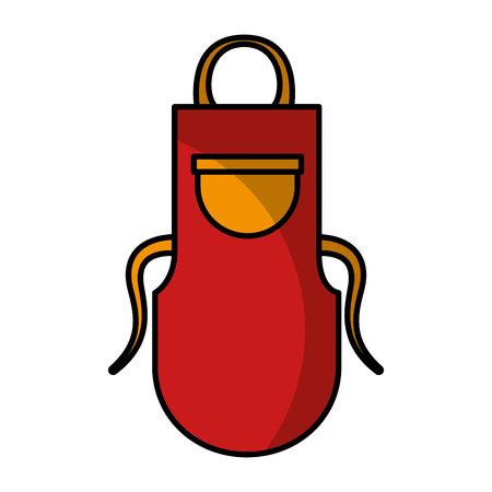 kitchen apron isolated icon vector illustration design