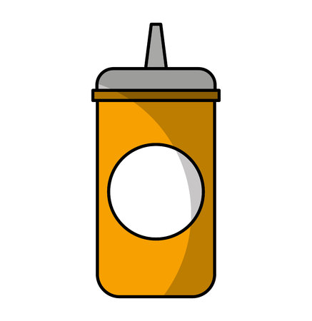 ketchup bottle isolated icon vector illustration design Illustration