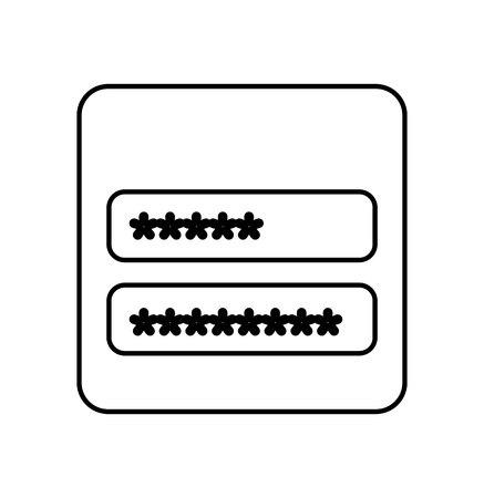 password: login and password icon vector illustration design