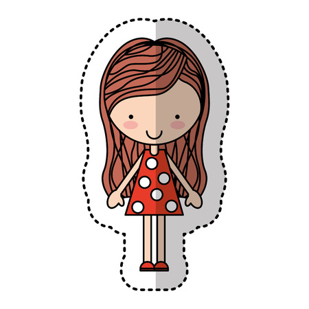 child holding sign: cute little girl character vector illustration design