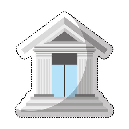 roman pillar: court building isolated icon vector illustration design Illustration