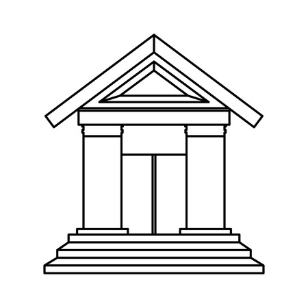 classical theater: court building isolated icon vector illustration design Illustration
