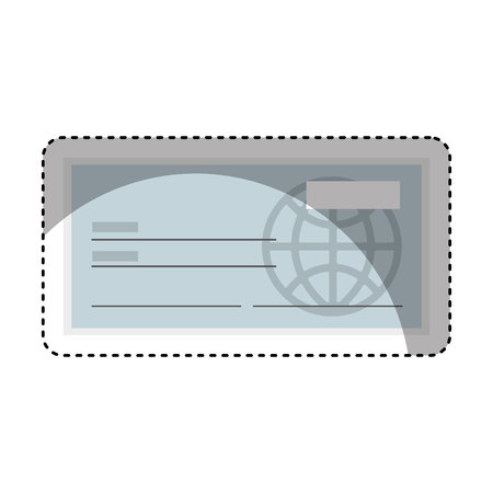 cheques: check bank isolated icon vector illustration design