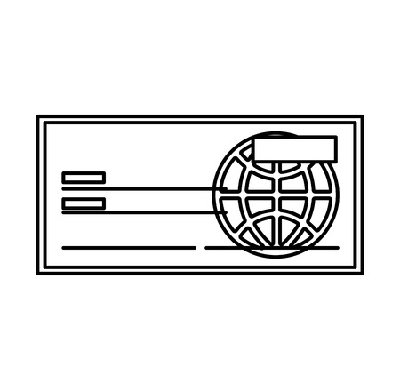 personal banking: check bank isolated icon vector illustration design