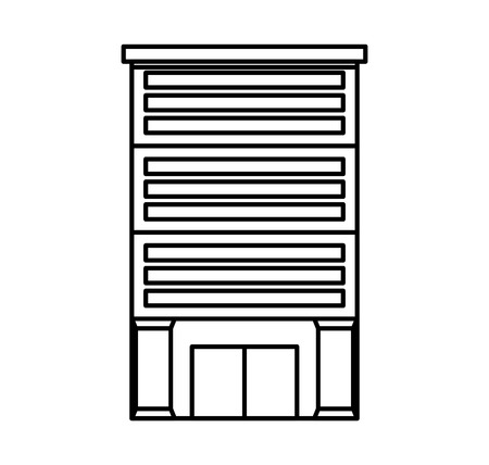 classical theater: bank building isolated icon vector illustration design Illustration