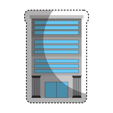roman pillar: bank building isolated icon vector illustration design Illustration