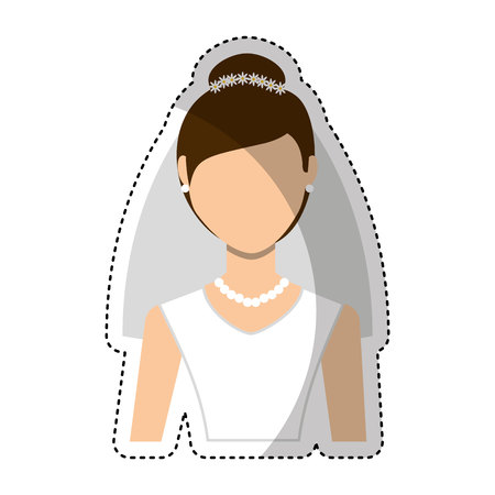 fiance: Newly married woman character vector illustration design