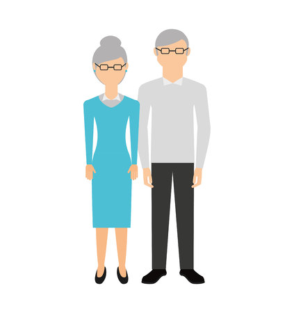 grandparents characters isolated icon vector illustration design