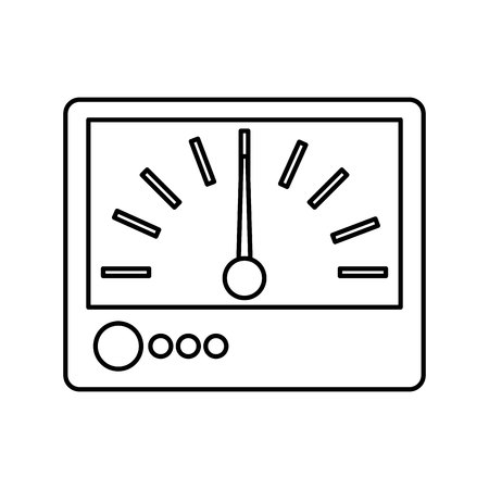 ammeter: electrical multimeter isolated icon vector illustration design Illustration