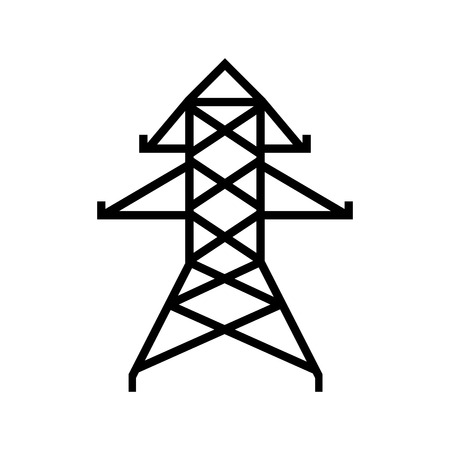 energy tower isolated icon vector illustration design Illustration