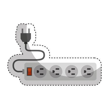 unplug: multi socket energy isolated icon vector illustration design