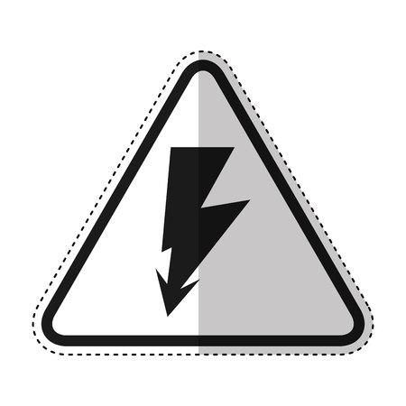 ray volt sign icon vector illustration design