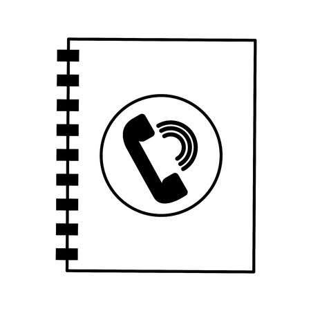 phonebook: phonebook service isolated icon vector illustration design