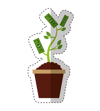 bills plant isolated icon vector illustration design