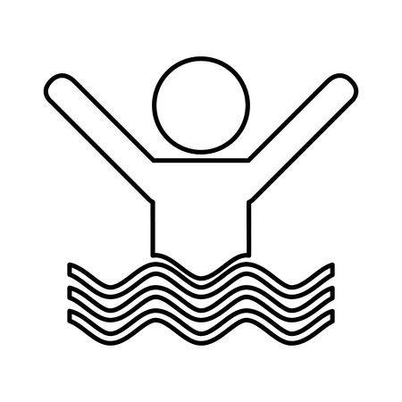 swiming: swiming person isolated icon vector illustration design