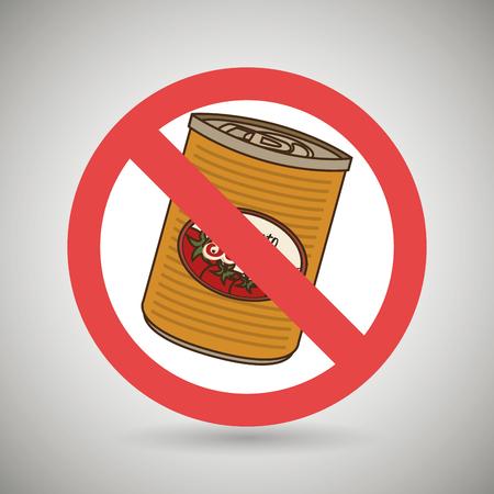 prohibido: La comida rápida puede unhealth ilustración vectorial eps 10 prohibida Vectores