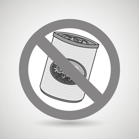 unhealth: fast food can unhealth prohibited vector illustration eps 10 Illustration