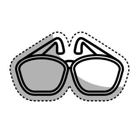 sunglasses accessory isolated icon vector illustration design