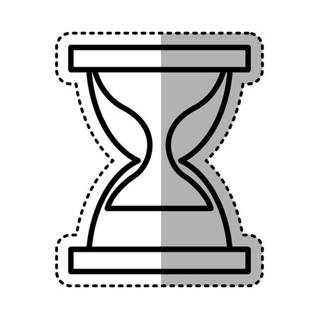 hourglass watch isolated icon vector illustration design Illustration