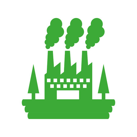 factory plant isolated icon vector illustration design