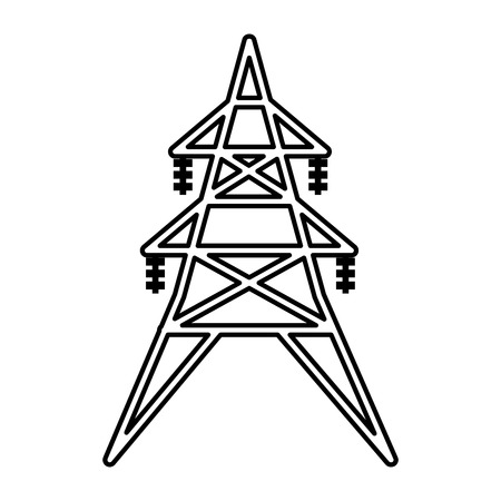 energy tower isolated icon vector illustration design Stock Photo