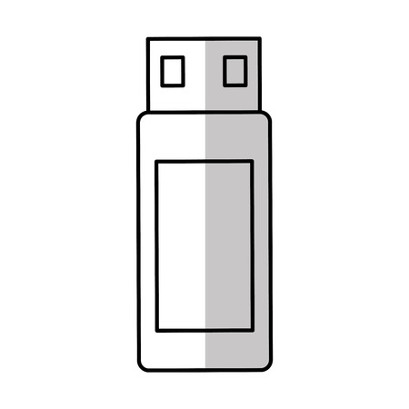 usb memory: usb memory flash icon vector illustration design