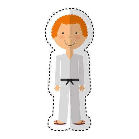 karateka avatar character icon vector illustration design Illustration