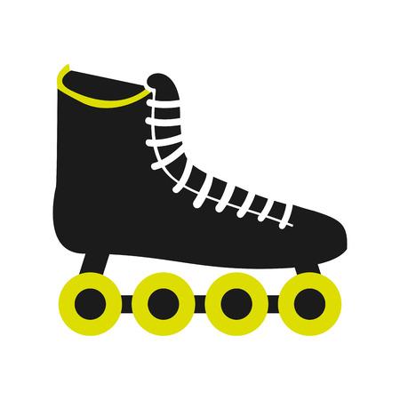 roller skating: skate sport equipment icon vector illustration design