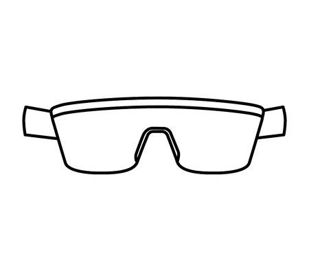 sunglasses isolated: sport sunglasses isolated icon vector illustration design