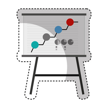 paperboard: paperboard training isolated icon vector illustration design