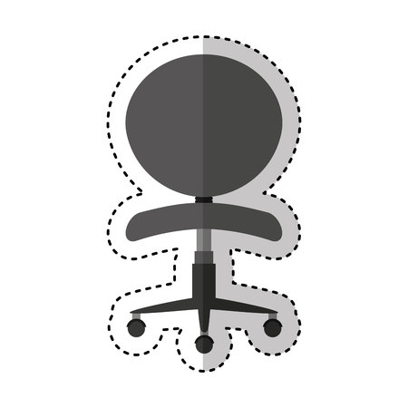 chair isolated: office chair isolated icon vector illustration design