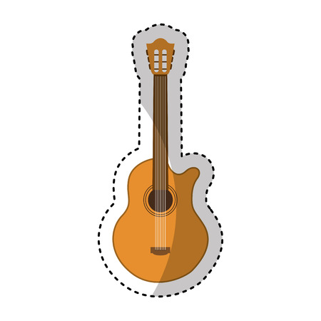 acoustic guitar instrument icon vector illustration design Illustration