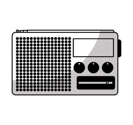 old radio: old radio handle isolated icon vector illustration design