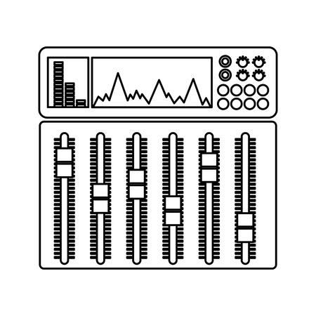 오디오 콘솔 전문 아이콘 벡터 일러스트 디자인