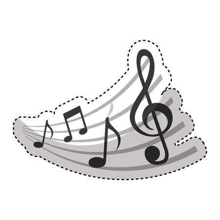 semiquaver: music note isolated icon vector illustration design Illustration