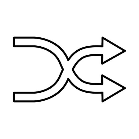 arrows change symbol isolated icon vector illustration design Illustration