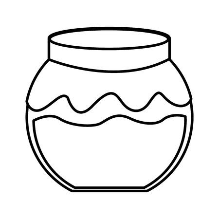 confiture: fruit conserve in jar icon vector illustration design