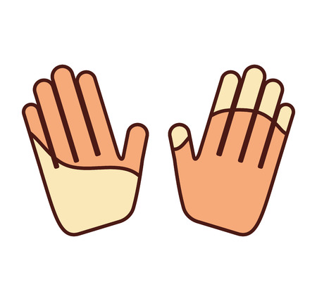 hands human made icon vector illustration design Illustration