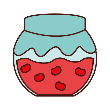 confiture: fruit conserve in jar icon vector illustration design