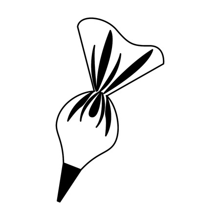 Room bag pastei geïsoleerd pictogram vector illustratie ontwerp