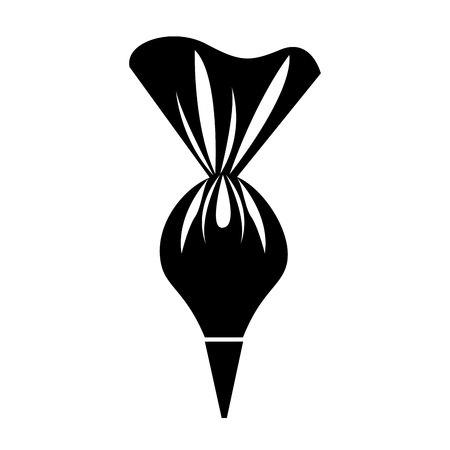 ontwerp van de het pictogram vectorillustratie van het roomzakgebakje het geïsoleerde Vector Illustratie